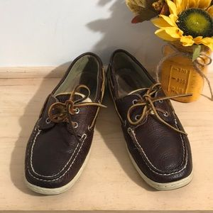Sperry top-Spider Women Leather loafer Size 9M-BRN